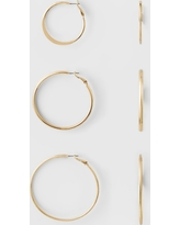 Hoop Earring Set 3ct - A New Day Gold, Size: Small