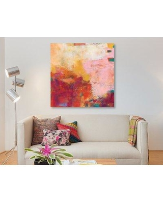 """East Urban Home 'Apricity V' Oil Painting Print on Wrapped Canvas ESUH7610 Size: 12"""" H x 12"""" W x 1.5"""" D"""