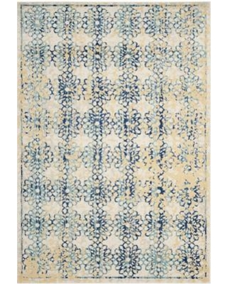 "Mistana Elson Rectangle Blue/Yellow/Ivory Area Rug MTNA3389 Rug Size: Rectangle 6'7"" x 9'"