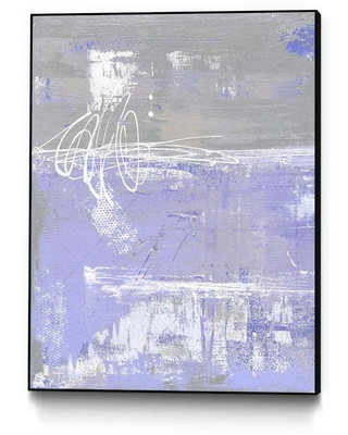 """CLICART INC 24 in. x 32 in. """"Valley Mist I"""" by Erin Ashley Framed Wall Art, Pink & Purple"""
