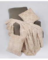BOON Throw & Blanket Tatami 3 Piece Geo Faux Fur Throw Blanket Set BNFTHR506018GEHM / BNFTHR506018GESI Color: Humus