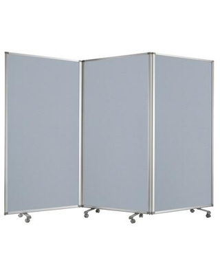 BM205793 Accordion Style Fabric Upholstered 3 Panel Room Divider