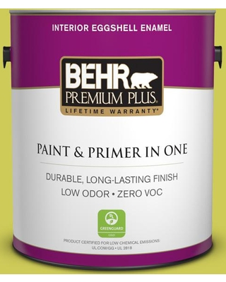 BEHR Premium Plus 1 gal. #400B-5 Grape Green Eggshell Enamel Low Odor Interior Paint and Primer in One