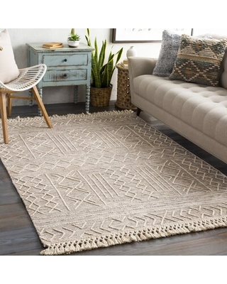 Cypres Hand-Tufted Flatweave Wool Brown/Beige Rug Rug Size: Rectangle 4' x 6'