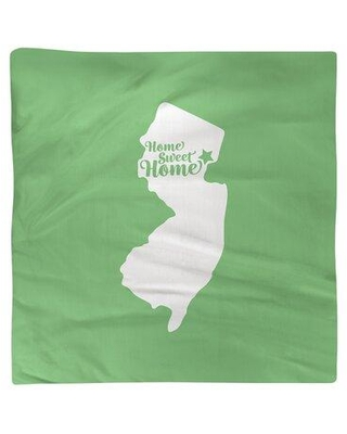 """East Urban Home Home Sweet Newark Napkin Small - Cotton Twill EBJK8902 Color: Green Material: Polyester Size: 22"""" W x 22"""" D"""