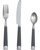 Everett Silverware 12pc Silverware Set With Caddy Stainless Steel Gray - Room Essentials