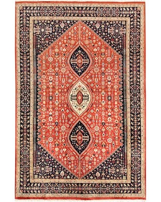 Isabelline Tomato Isfahan 5' 5 X 8' 1 Wool Area Rug Isabelline