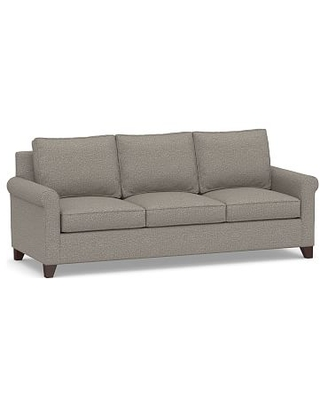 Cameron Roll Arm Upholstered Side Sleeper Sofa, Polyester Wrapped Cushions, Performance Chateau Basketweave Light Gray
