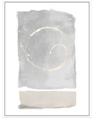 George Oliver 'Light Watercolor with Circle' Framed Graphic Art Print on Canvas BF171061