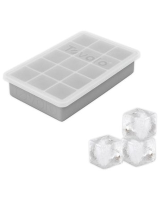 Tovolo® Perfect Cube Ice Tray with Lid in Oyster Grey