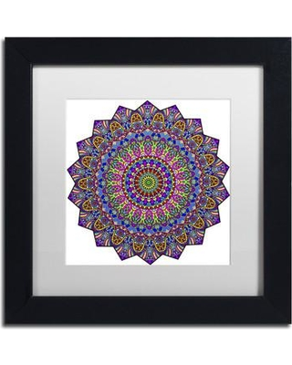 "Trademark Art 'Mystical Mandala' Framed Graphic Art on Canvas ALI3389-B1111BMF / ALI3389-B1616BMF Size: 11"" H x 11"" W x 0.5"" D Matte Color: White"