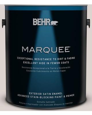 BEHR MARQUEE 1 gal. #750A-2 Feather Gray Satin Enamel Exterior Paint and Primer in One