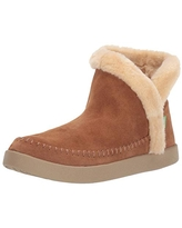 Sanuk Women's Nice Bootah Suede Boot, Chestnut, 11 M US