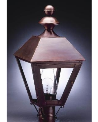 Northeast Lantern Boston 26 Inch Tall 3 Light Outdoor Post Lamp - 1123-AB-LT3-SMG
