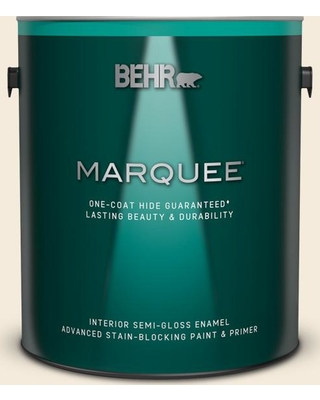 BEHR MARQUEE 1 gal. #PPU5-10 Heavy Cream Semi-Gloss Enamel Interior Paint and Primer in One