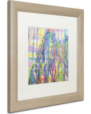 "East Urban Home 'Kilamanjaro' Framed Painting Print EBHV7313 Matte Color: White Size: 16"" H x 16"" W x 0.5"" D"