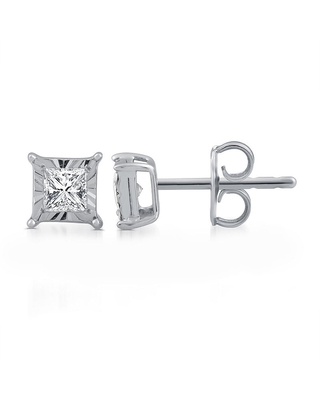 1/3 CT. T.W. Genuine White Diamond Sterling Silver 6mm Stud Earrings | At JCPenney
