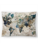"East Urban Home PI Creative Art Celestial Map Lumbar Pillow, Polyester/Polyfill/Synthetic in Gray/Silver, Size 10""H x 14""W 