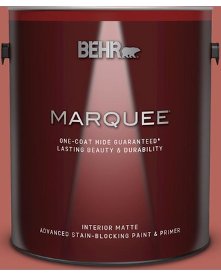 BEHR MARQUEE 1 gal. #180D-6 Mineral Red Matte Interior Paint and Primer in One