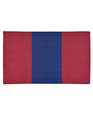 New York Big Football Stripes Poly Red Area Rug East Urban Home Rug Size: Rectangle 2' x 3'