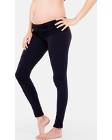 Women's Ingrid & Isabel 'Active' Maternity Leggings With Crossover Panel, Size X-Small - Black
