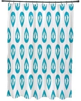 Mistana Bridgehampton Ikat Tears Geometric Print Shower Curtain MTNA2891 Color: Turquoise