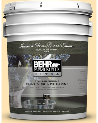 Huge Deal On Behr Ultra 5 Gal P260 3 Vanilla Ice Cream Extra Durable Semi Gloss Enamel Interior Paint And Primer In One