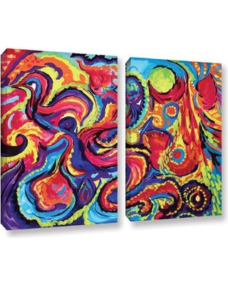 """ArtWall """"Birth"""" by Marina Petro 2 Piece Painting Print on Gallery Wrapped Canvas Set 0pet011b Size: 24"""" H x 36"""" W x 2"""" D"""