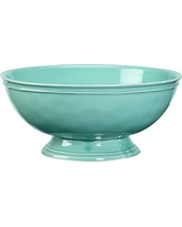 Cambria Footed Serve Bowl, Turquoise