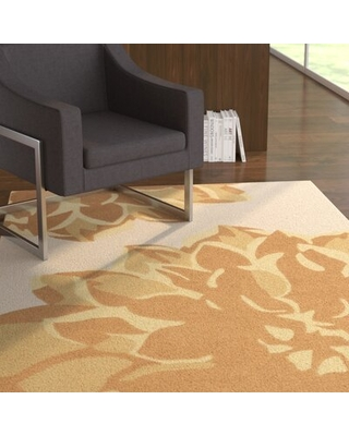 Butner Floral Handmade Tufted Beige/Brown Area Rug Latitude Run® Rug Size: Rectangle 8' x 11'