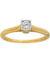 Belk & Co. Gold Solitaire Diamond Bridal Ring in 10K Yellow Gold