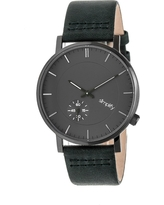 Simplify The 3600 Men's Leather-Band Watch - Gunmetal/Charcoal/Forest Green