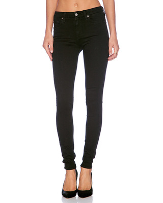 7 For All Mankind The High Waist Skinny in Black. - size 27 (also in 24,25,26,28,29,30)