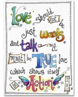 """Trademark Fine Art 'Words of Love - Love in Action' Photographic Print on Canvas ALI3101-C Size: 24"""" H x 18"""" W x 2"""" D"""