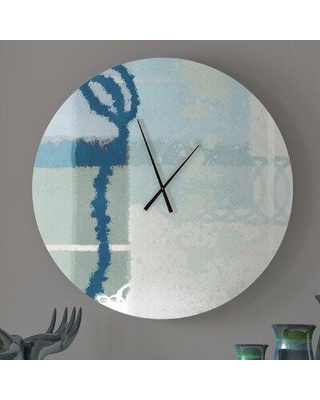 Get This Deal On Ebern Designs Titillating Tangible Abstract Metal Wall Clock Metal In Blue Green Size Large Wayfair 172a696d35644bdbbb60f441463654bc