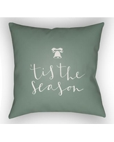 """The Holiday Aisle Tis the Season Indoor/Outdoor Throw Pillow HLDY1187 Size: 20"""" H x 20"""" W x 4"""" D, Color: Green / White"""