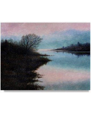 "Trademark Art 'Morning Light' Oil Painting Print on Wrapped Canvas ALI21246-C Size: 24"" H x 32"" W"