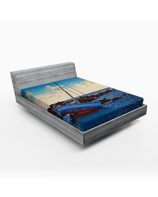 Shipwreck Fitted Sheet East Urban Home Size: Queen