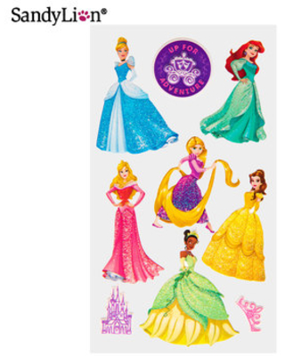 SandyLion Disney Stickers-Tangled Glitter