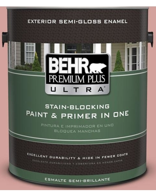 BEHR ULTRA 1 gal. #S160-3 Bubble Shell Semi-Gloss Enamel Exterior Paint and Primer in One