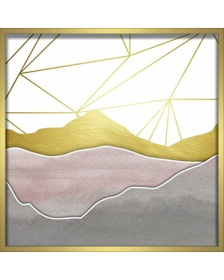 'Watercolor Mountains' Framed Graphic Art Print