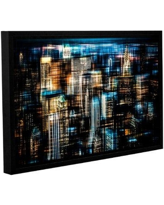 "Latitude Run 'Downtown I' Framed Graphic Art Print on Canvas LATT3942 Size: 24"" H x 36"" W x 2"" D"