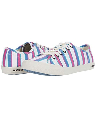 SeaVees Women's Lace Up Sneaker, Vacation Stripe, 9.5