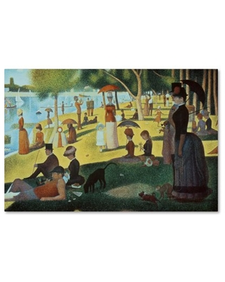 Trademark Fine Art 'Sunday Afternoon on the Island' Canvas Art by Georges Seurat