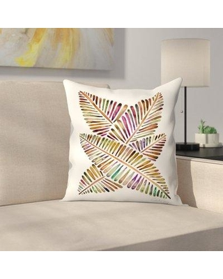 """East Urban Home Banana Leaves Vintage Throw Pillow FVIH5240 Size: 20"""" x 20"""""""