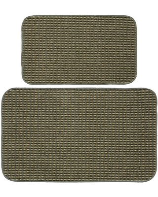 Garland Rug Berber Coloriations 2pc Kitchen Rug Set 18 in. x 30 in. & 24 in. x 40 in. Sage