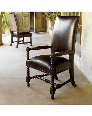 Tommy Bahama Home Kingstown Edwards Genuine Leather Upholstered Dining Chair Set Of 2 01