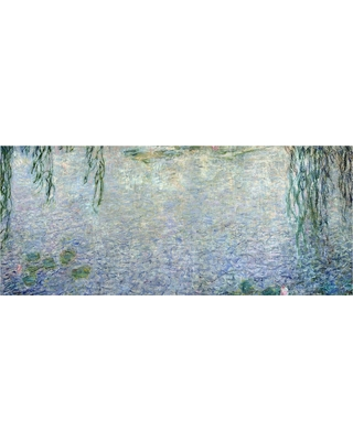 'Waterlillies Morning Ii' by Claude Monet Ready to Hang Canvas Wall Art, Multi-Colored