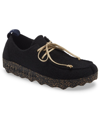 Asportuguesas by Fly London Chat Sneaker, Size 5.5Us in Black Fabric at Nordstrom
