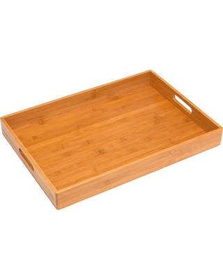 Lipper Solid Bamboo Tray, Serving Trays